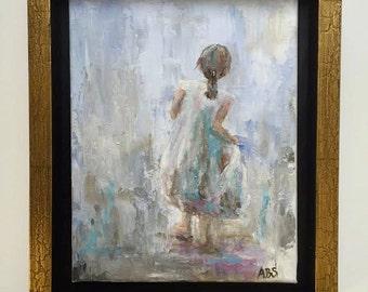FRAMED Original Painting, Little Lady