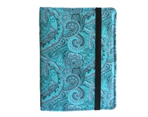 Kindle Paperwhite Case, Kindle Cover Hardcover,  Amazon Kindle Hard Cover with Pocket, Turquoise Paisley