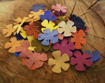Assorted leather flowers, Jewelry supplies, Accessories, Assorted colors, Flowers