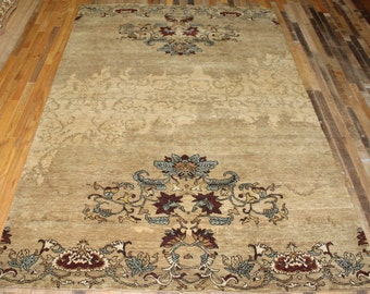 persian rug 6x9 area rug hand knotted rug fiezy vivendi designer home decor interior
