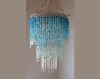 coastal decor lighting. sea glass chandelier lighting fixture flush mount ceiling coastal decor beach crystal c