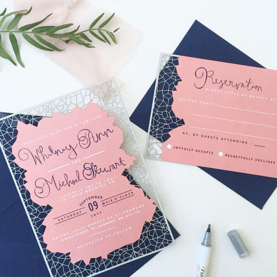 Laser Cut Wedding Invitations and RSVP cards