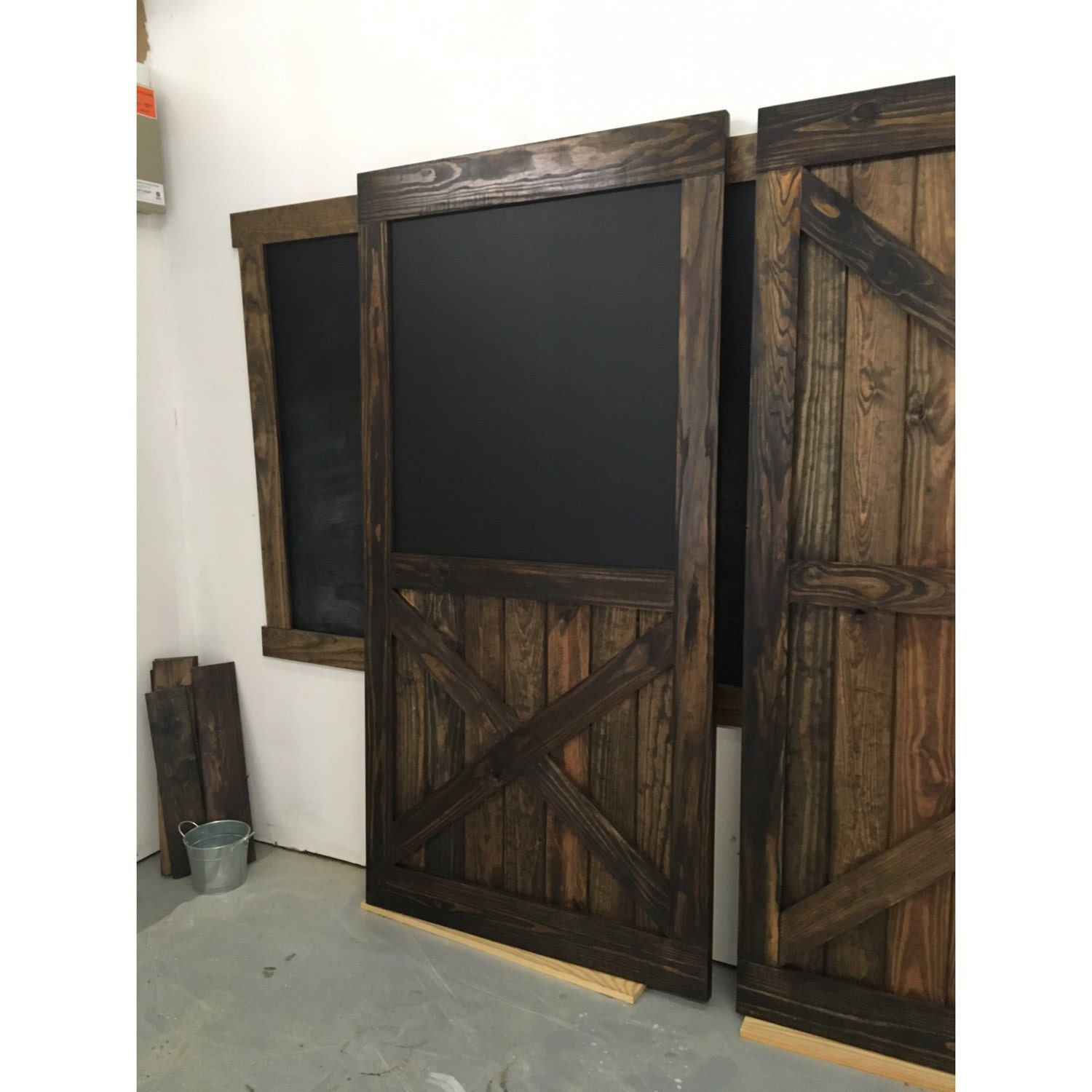 Rustic Sliding Barn Door Chalkboard Design W Half X Multi