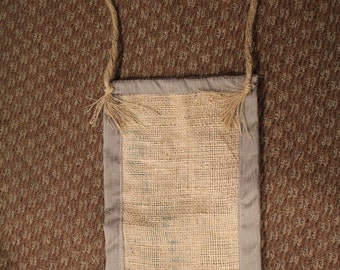 Handmade Burlap Shoulder Bag