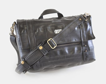 Padded Laptop Briefcase made from bike inner tubes