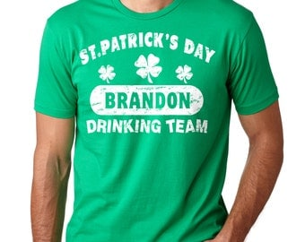 Personalized T-Shirt Custom Saint Patrick's Day Tee Shirt Shamrock Clover Tee Shirt