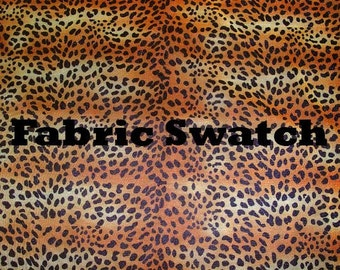 Fabric Swatch - Animal Print Fabric - Gold Brown Black Fabric Four way Stretch Mesh Fabric Item# RXPN-02621-SWATCH