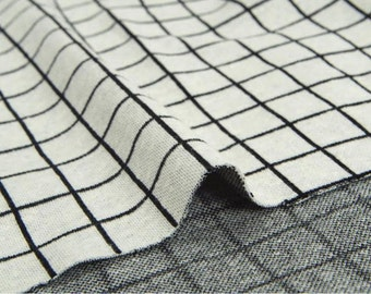 Double Knit Fabric 2 cm Plaid By The Yard
