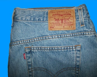 Levis 550 Relaxed   Size 24 W M