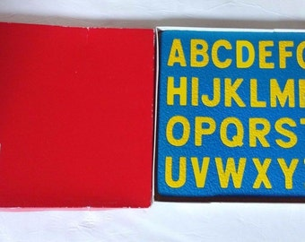 Lauri Early Learning Materials A to Z Panel Foam Puzzle Lot Vintage 1979 2pc set, Upper and Lower Case Letters, Sensory Therapy Puzzle