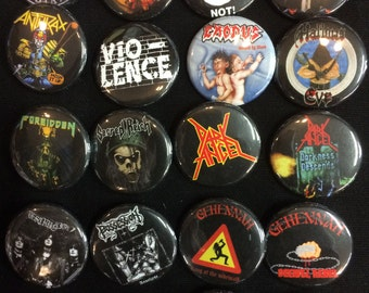 002 Death Speed Thrash Black Metal Button, Pin, Badge