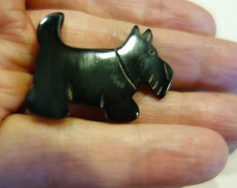 Vintage West Highland terrier made of Bone