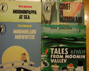Complete set of Eight Vintage Moomintroll books published by Puffin