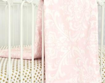 Pink Damask Blanket
