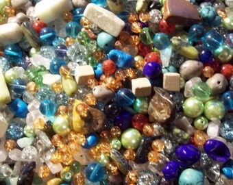 "Wholesale Lot of New Assorted ""Better"" Beads, No Plastic or Resin, 1/2 Pound"