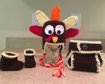 Crochet Turkey set