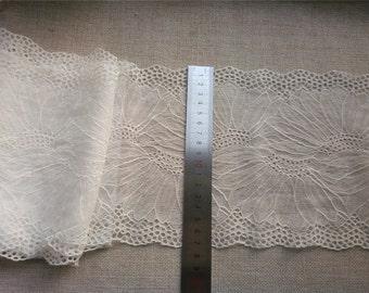 off White  Eyelash Lace wedding Fabric ,black  eyelash lace trim-LSY007