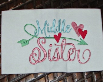 Middle Sister Embroidery design