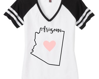 Women's State TShirts California, Arizona Love