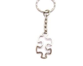 Puzzle Keychain Puzzle Piece Keychain Autism Awareness Keychain  Puzzle Gift Autism Awareness Gifts Under 10