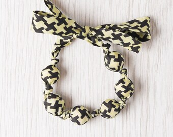 Silk fabric beaded bracelet (2)