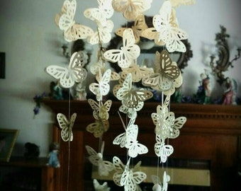 Floral Butterfly Chandelier Light