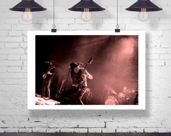 Photograph - James Bay - Singer Songwriter Concert Music  Fine Art Photography Print Wall Art Home Decor
