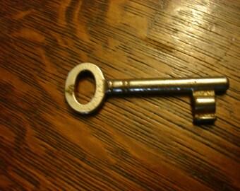 antique key     key  door key vintage key marked # 145