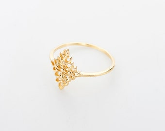 Gold Filigree Ring , romantic ring, Gold Filled Ring, Gold  Ring, bridal gift, anniversary gift, under 30