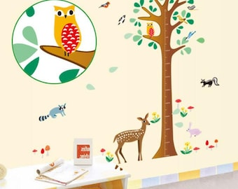 Deer height chart wall Stickers - AW9149