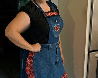 Ladies Denim Apron