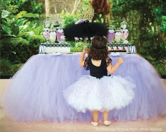 Sophia the First inspired Purple Table Tutu Skirt MADE TO ORDER Tulle Tableskirt for Disney Priness Birthday Party Bridal Baby Girl Shower