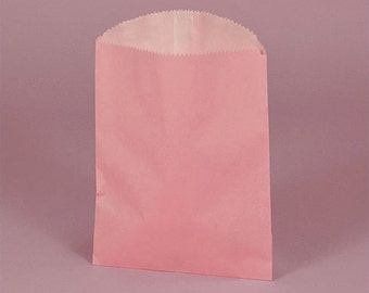 "4-3/4"" x 6-3/4"" Pink Gourmet Bags With Glassine Lining - 18 Quantity"