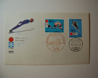 Japan-First day Cover- Sapporo Winter Olympics