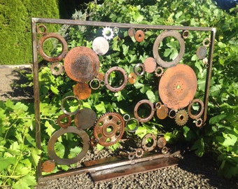Recycled Metal Sculpture Garden Screen for Lisa (Shipping charges only)