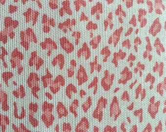 Pink White Leopard Cotton Upholstery Fabric by the Yard Perfect for Nursery