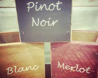 Wine bottle box, Rustic bar decor, Wine holder, Winery, Vino, Wedding centerpiece, Vineyard, Wine tasting party, Merlot, Blanc, Hostess gift