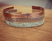 Collect Moments Not Things, Stacking Bangle, Layering Bracelets, Set of Cuffs, Hand Painted Cuff Bracelets, Aarti Khurana Quote Bracelet