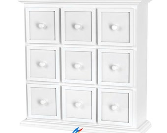 Stunning White Chest 9 Drawer Apothecary . Nine Drawer White Chest.