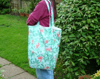 tote bag large laura ashley fabric