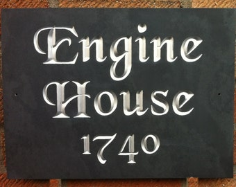 Slate House Sign 30cm x 25cm