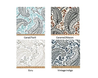Paisley Window Topper - Premier Prints Shannon Collection - Lined and Unlined Valances - Multiple Sizes - Multiple Colors - Cafe Curtains