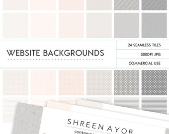Instant Download Website Seamless Patterns - Stylish Feminine Colours Pink and Grey
