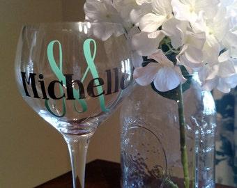 Wine Glass// Personalization// Custom// Wine