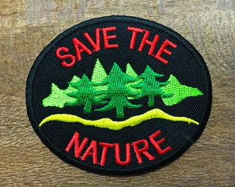 New Save the Nature Logo DIY Applique Iron on Patch