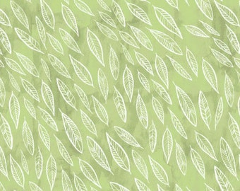 af5d2f14f3d Dear Stella Fabric Fallen Leaves on Fern Quilting Crafting Sewing ...