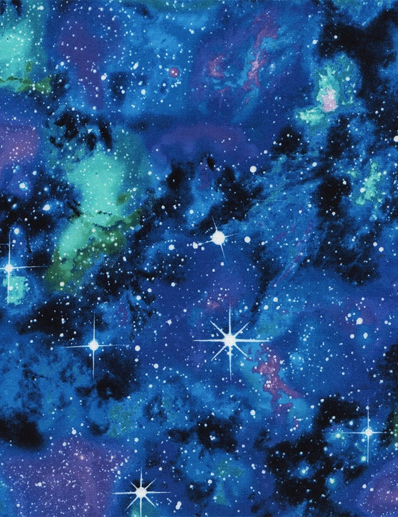 Galaxy fabric c4847 fat quarter half yard or by the yard for Space fabric by the yard