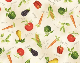 Vegetable Toss 26441-MUL1 by Red Rooster Fabrics Cotton Fabric Yardage