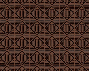 Diamond Geo - Brown by Quilting Treasures (24285-A) Fabric Yardage