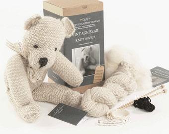 Limited edition - Vintage Teddy Bear Knitting Kit 'Ernest'